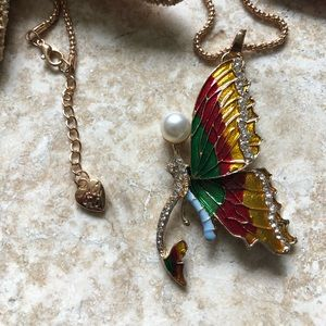 Betsey Johnson Dragonfly Fairy Necklace